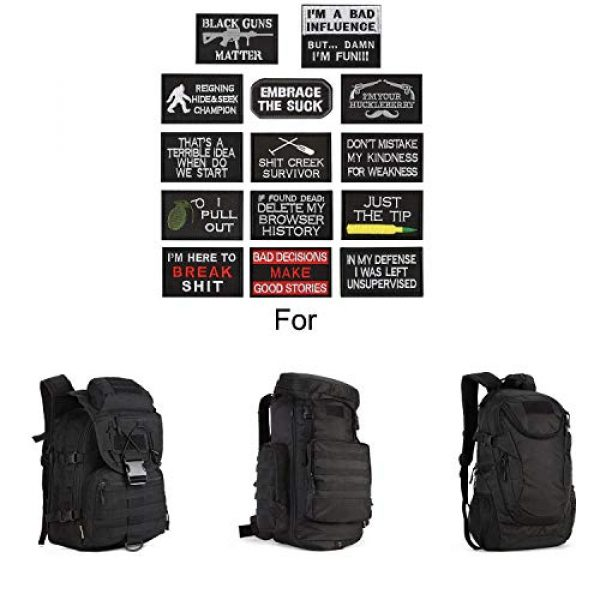 WZT Airsoft Morale Patch 4 WZT 14 Pieces Funny Tactical Morale Military Patch Full Embroidery Patch Set for Caps,Bags,Backpacks,Clothes,Vest,Military Uniforms,Tactical Gears Etc.
