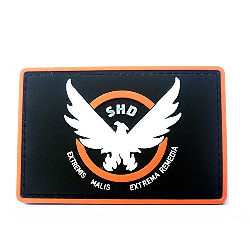 Aquiver Airsoft Patch 1 Aquiver Game Patches Rubber The Division SHD Wings Out Badge Morale PVC Airsoft Patch