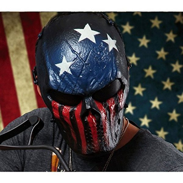 OutdoorMaster Airsoft Mask 7 OutdoorMaster Full Face Airsoft Mask with Metal Mesh Eye Protection