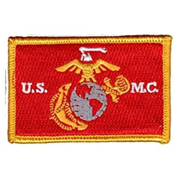 Antrix Airsoft Patch 2 Antrix 5 Pieces Tactical USMC Morale Patch Hook and Loop Fastener US Marine Corps US Army Military Applique Emblem Patch Set for Caps,Bags,Backpacks,Clothes,Vest,Military Uniforms,Tactical Gear Etc.