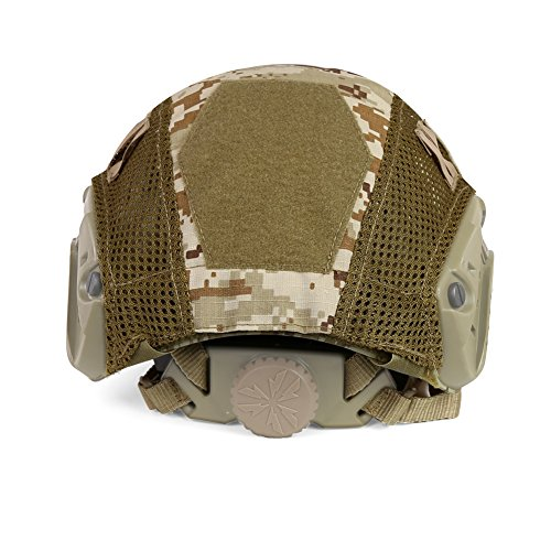 ATAIRSOFT Airsoft Helmet 4 ATAIRSOFT Airsoft Tactical Military Combat Helmet Cover for PJ/BJ/MH Type Fast Helmet Back Pouch (DD)