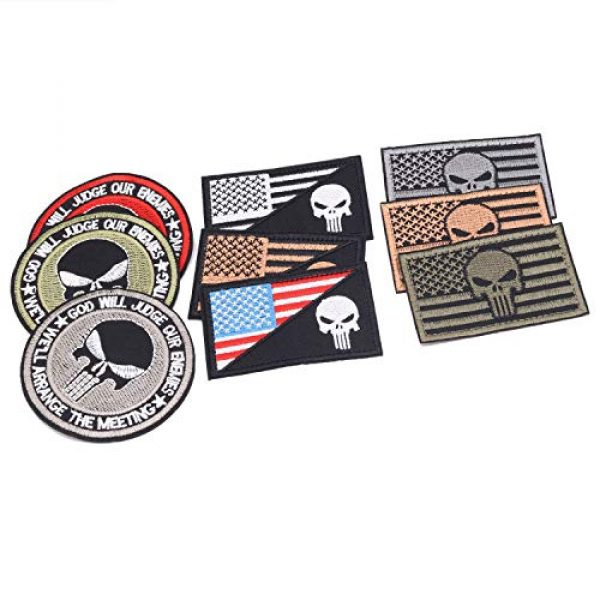 Winrase Airsoft Patch 3 9pcs American Flag Tactical Military Morale Iron on Patches Embroidered Set for Caps, Bags, Backpacks, Tactical Vest, Military Uniforms (Tactical 9pcs)