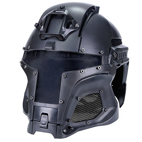 SUNRIS Airsoft Helmet 1 Tactical Military Ballistic Helmet Side Rail NVG Shroud Transfer Base Army Combat Airsoft Paintball Full Face Mask Helmet