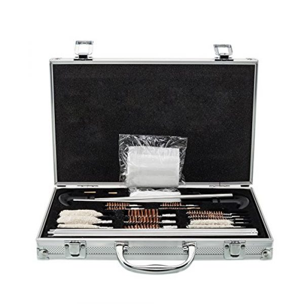 LiqiAir Cleaning Kit 2  LiqiAir 126pcs Outdoor Shotguns Barrel Cleaning Kit Silver
