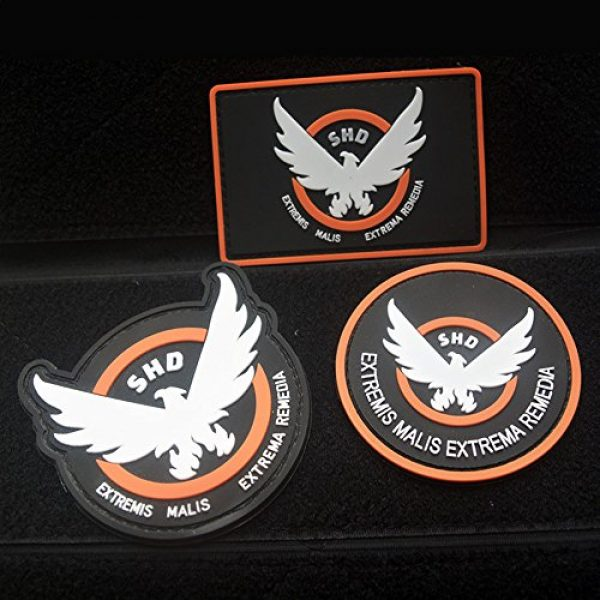 ewkft Airsoft Morale Patch 1 ewkft 3pcs Airsoft -Game -Cosplay S-H-D Rubber 3D PVC Badge MORCLA Patch