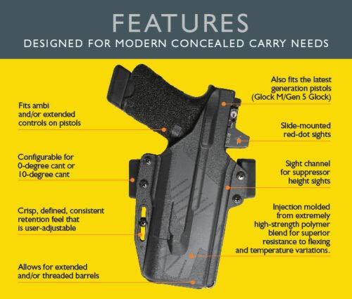 Raven Concealment Systems  3 Raven Concealment Systems Perun OWB Holster fits Gen 5 Glock with TLR1HL