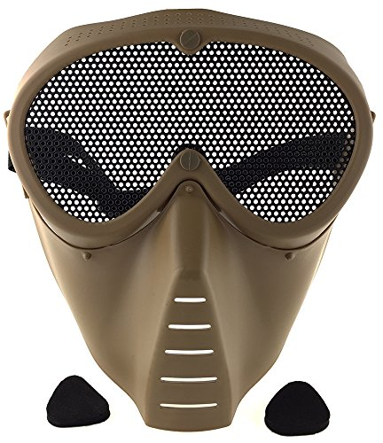 SportPro Airsoft Mask 1 SportPro CM Mesh Eye Protection Full Face Mask for Airsoft - Tan
