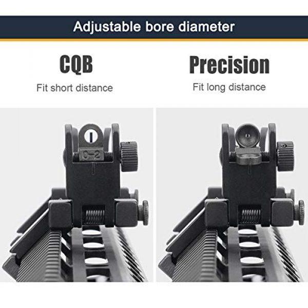 Marmot Airsoft Gun Sight 3 Marmot 45 Degree Offset Flip Up Sight Low Profile Rapid Transition Front & Rear Iron Sights