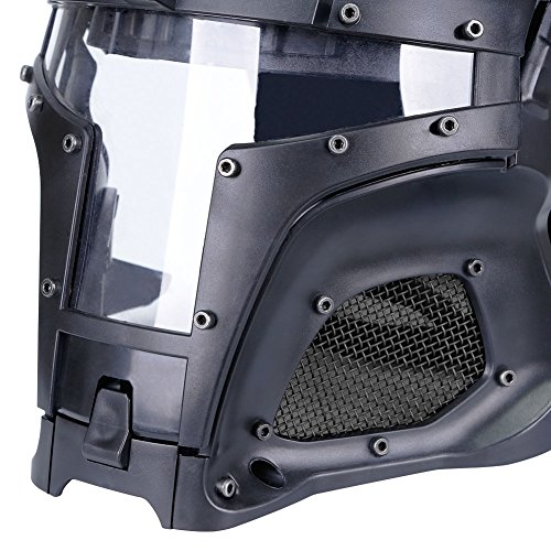 SUNRIS Airsoft Helmet 7 Tactical Military Ballistic Helmet Side Rail NVG Shroud Transfer Base Army Combat Airsoft Paintball Full Face Mask Helmet