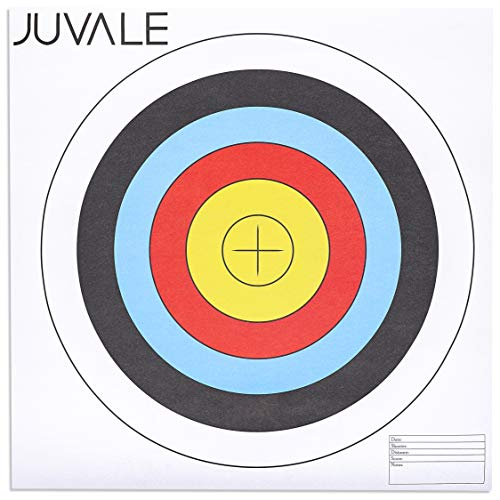 Juvale Airsoft Target 1 Juvale 30-Pack Paper Bullseye 5 Ring Shooting Targets for Archery and Gun Range