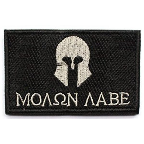 Antrix Airsoft Patch 3 Antrix 8 Pack Great Value Black Military Tactical Morale Patch US Flag Punisher Molon Labe Dont Tread On Me in God We Trust Patches Set
