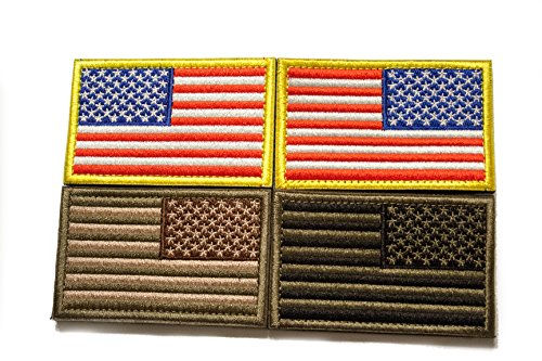 Tekma Sport Airsoft Patch 3 Tekma Sport American Flag Hook and Loop Tactical Patch Combination Pack