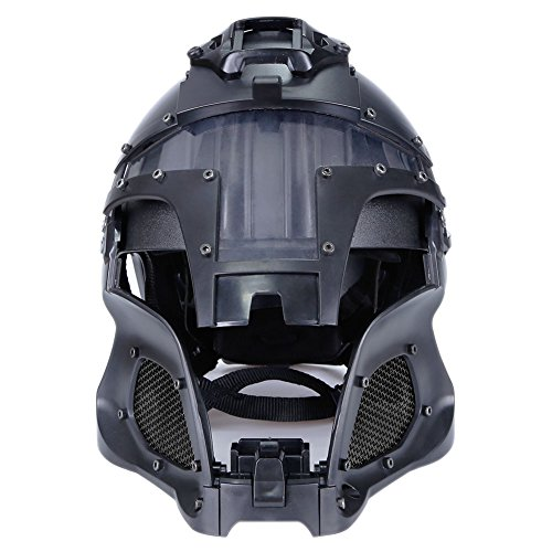 SUNRIS Airsoft Helmet 6 Tactical Military Ballistic Helmet Side Rail NVG Shroud Transfer Base Army Combat Airsoft Paintball Full Face Mask Helmet