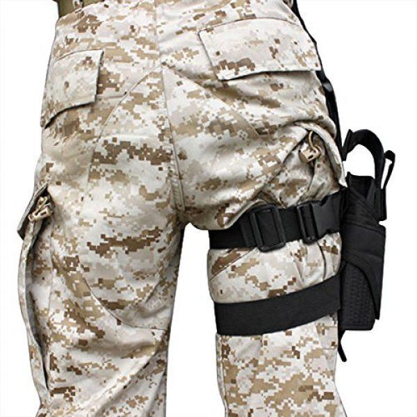 LIVEBOX  2 LIVEBOX Military Tactical Drop Leg Thigh Gun Holster Bag Adjustable Right Leg Handgun Holster Pouch for Airsoft Paintball Hunting Gun Training