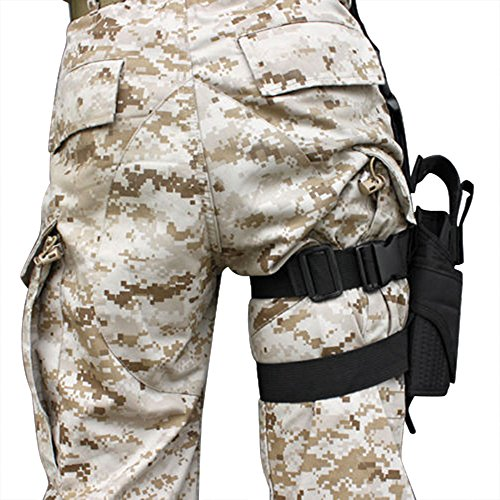 LIVEBOX  2 LIVEBOX Military Tactical Drop Leg Thigh Gun Holster Bag Adjustable Right Leg Handgun Holster Pouch for Airsoft Paintball Hunting Gun Training