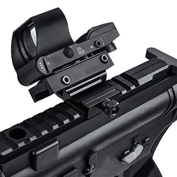 EZshoot Airsoft Gun Sight 3 EZshoot Reflex Sight 4 Reticles Green and Red Dot Sight with 45 Degree Rail Mount