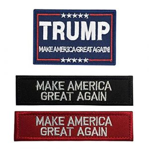 Antrix Airsoft Patch 1 Antrix 3 Pack Trump Make America Great Again/Make America Great Again Hook & Loop Tactical Military Morale Badge Patches