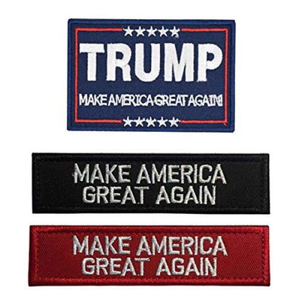 Antrix Airsoft Morale Patch 1 Antrix 3 Pack Trump Make America Great Again/Make America Great Again Hook & Loop Tactical Military Morale Badge Patches