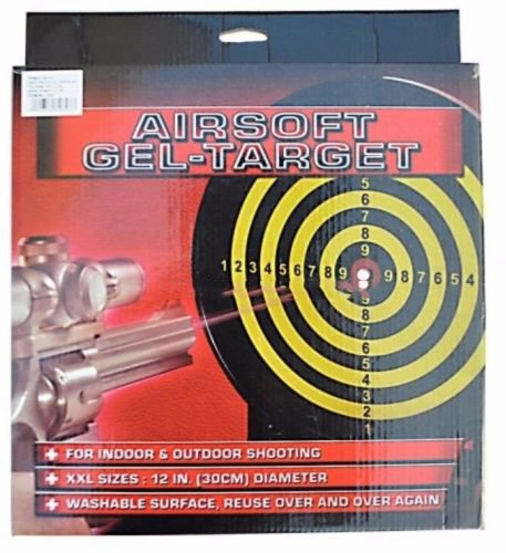 JAG Airsoft Target 2 JAG A&N Airsoft Sticky Gel Target 30cm-12inch Round Shooting Practice Range Accessory