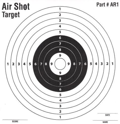Air Shot Airsoft Target 1 Air Shot 100 Pack Paper Targets - 5.5 by 5.5 - Fits Gamo Cone Traps - Part # AR1