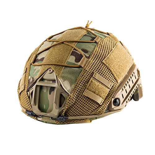 OneTigris Airsoft Helmet 1 OneTigris Multicam Helmet Cover - No Helmet (ZKB06 for Ballistic Fast Helmet in Size L & Fast PJ Helmet in Size L/XL - Multicam)
