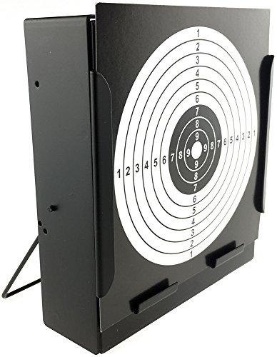 SportPro Airsoft Target 2 SportPro Metal Box BB Catcher Target with 20 Paper Targets for AEG GBB Airsoft Black