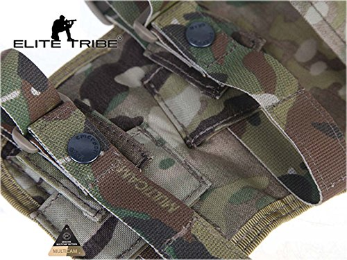 Elite Tribe  5 Elite Tribe MP7 Tactical Leg Holster Shooting Pistol Drop Pouch Multicam Camo Gun Holder Left Right Hand