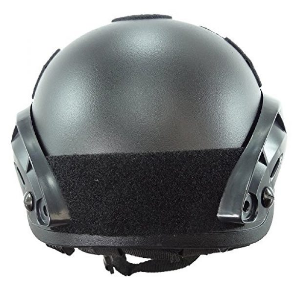ATAIRSOFT Airsoft Helmet 5 ATAIRSOFT PJ Type Tactical Airsoft Paintball MICH 2001 Helmet with Side Rail & NVG Mount