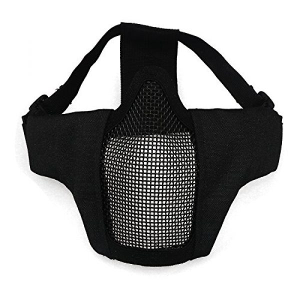 Aoutacc Airsoft Mask 3 Aoutacc Airsoft Half Face Mesh Mask and Goggles Set for CS/Hunting/Paintball/Shooting
