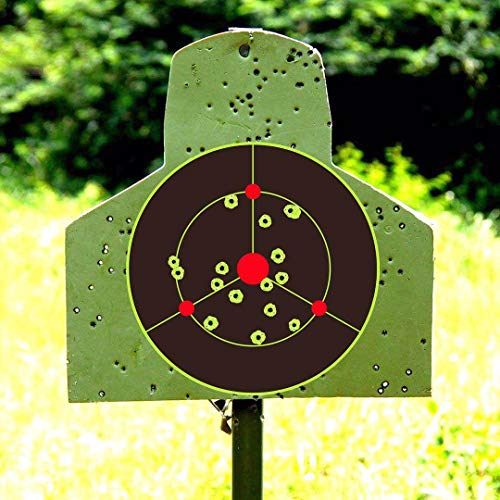 iFymei Airsoft Target 6 iFymei Shooting Targets Splatter Targets for Shooting Self Adhesive Reactive Paper Targets - 8 inch 100 & 50 & 20 Pack Great for Gun Rifle Pistol Bb Gun Airsoft Pellet Gun Air Rifle