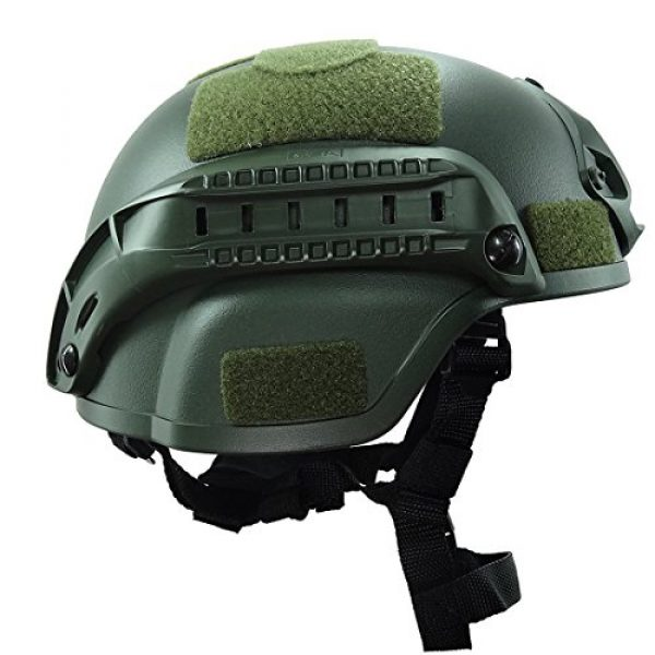 ATAIRSOFT Airsoft Helmet 3 ATAIRSOFT Tactical Airsoft Paintball MICH 2000 Helmet with Side Rail & NVG Mount