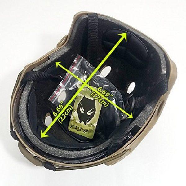 ATAIRSOFT Airsoft Helmet 2 ATAIRSOFT PJ Type Tactical Multifunctional Fast Helmet with Visor Goggles Version DE
