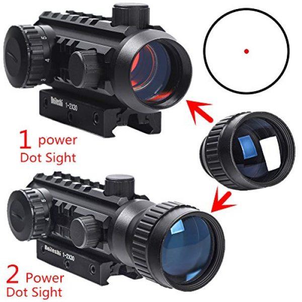 Beileshi Airsoft Gun Sight 2 Beileshi 1X/2X Red Illuminated Tactical Dot Sight