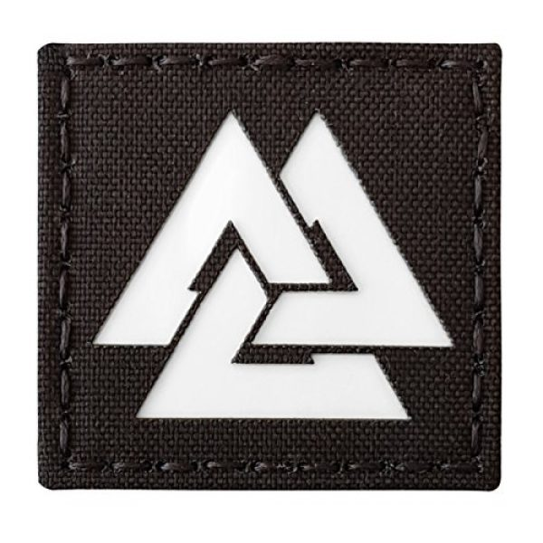 Tactical Freaky Airsoft Morale Patch 1 Glow Dark Viking Valknut Norse 2x2 GITD Tactical Morale Fastener Patch