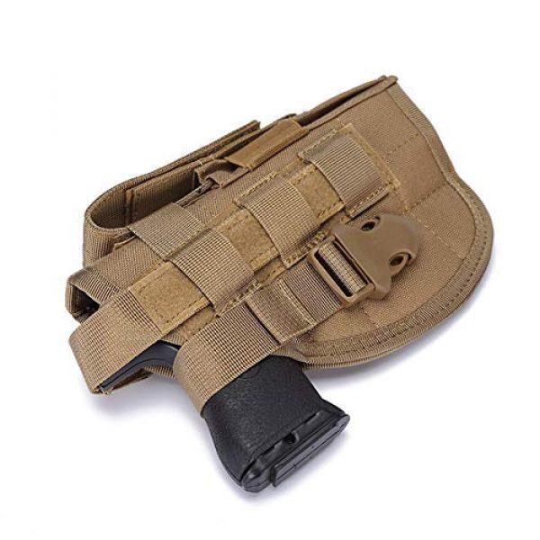 ESA Supplies  4 ESA Supplies Molle Gun Holster Pounch Airsoft Handgun Holster Tactical Holsters for Pistols Glorck G17 G18 G19 G26 G34 M1911
