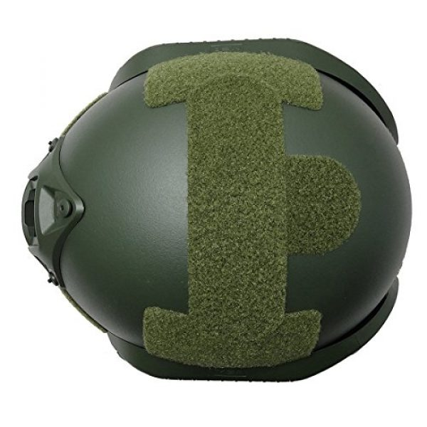 ATAIRSOFT Airsoft Helmet 6 ATAIRSOFT Tactical Airsoft Paintball MICH 2000 Helmet with Side Rail & NVG Mount