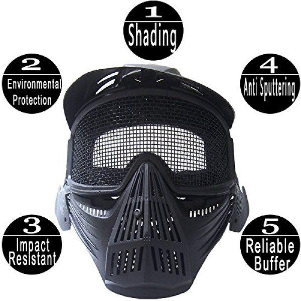 RNTOP_Hat Airsoft Mask 4 Balaclava Tactical Airsoft Full Face Mask Safety Metal Mesh Goggles Protection CS