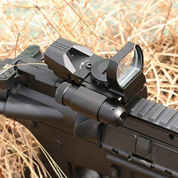 Feyachi Airsoft Gun Sight 7 Feyachi RSL-18 Reflex Sight - 4 Reticle Red & Green Dot Sight Optics with Integrated Red La-ser Sight Less Than 5mW Output