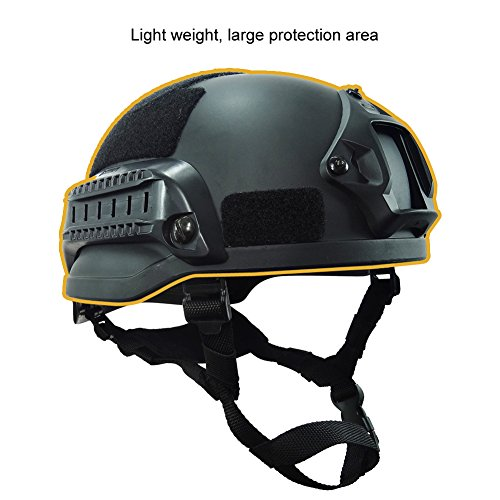 OneTigris Airsoft Helmet 3 OneTigris MICH 2002 Action Version Tactical Helmet ABS Helmet for Airsoft Paintball