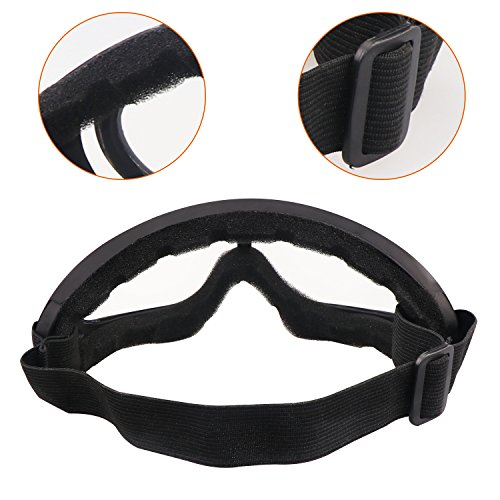 Aoutacc Airsoft Mask 7 Aoutacc Airsoft Half Face Mesh Mask and Goggles Set for CS/Hunting/Paintball/Shooting