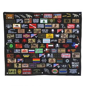 Homiego Airsoft Patch 1 Homiego Moarle Patch Display Board Patch Holder Display Frame for Tactical Airsoft Military Patches (L)