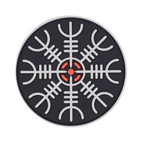 M-Tac Airsoft Patch 1 M-Tac Helm of Awe Viking Morale Patches PVC Norse Rune Vegvisir Morale Patch