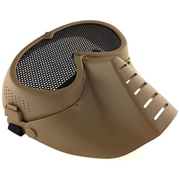 SportPro Airsoft Mask 4 SportPro CM Mesh Eye Protection Full Face Mask for Airsoft - Tan