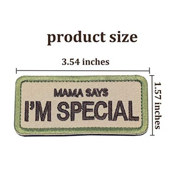 """Ehope Airsoft Patch 2 Ehope Mama Says I'm Special Patch Tactical Morale Military Patches Funny Embroidered Fastener Hook and Loop Patches 3.54"""" x 1.57""""(I'm Special-Multitan)"""