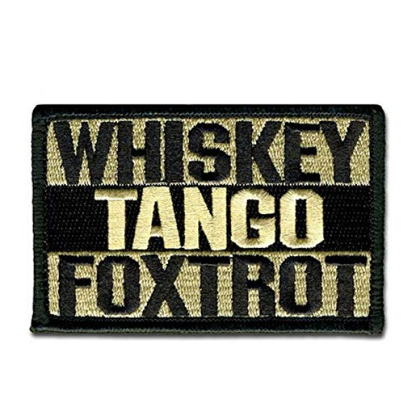 BASTION Airsoft Patch 1 BASTION Morale Patches (Whiskey Tango Foxtrot, Tan) | 3D Embroidered Patches with Hook & Loop Fastener Backing | Well-Made Clean Stitching, Military Patches for Tactical Bag, Hats & Vest