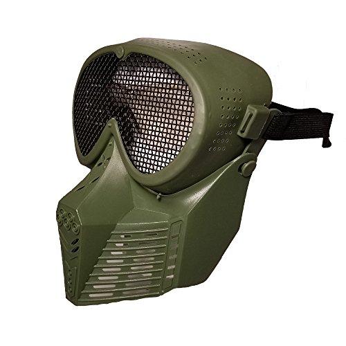 JustBBGuns Airsoft Mask 3 JustBBGuns Airsoft Pro Full Face Mask with Metal Mesh Eye Protection