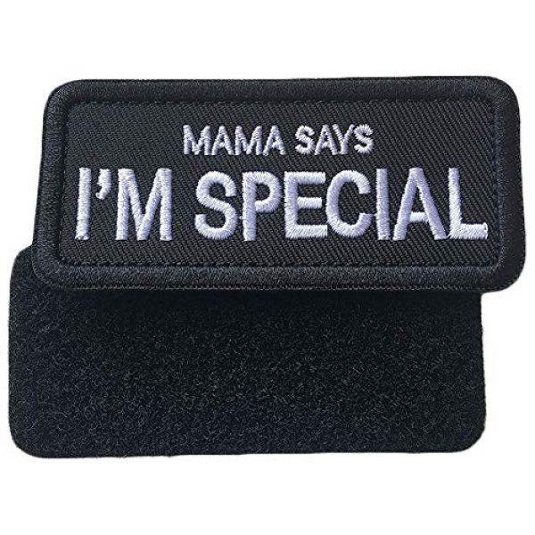 WindCar Airsoft Morale Patch 5 WindCar Tactical Morale Military Patches 2 pcs Funny Emblem Badge Mama Says I'm Special (2 pcs - Mama Says I'm Special)