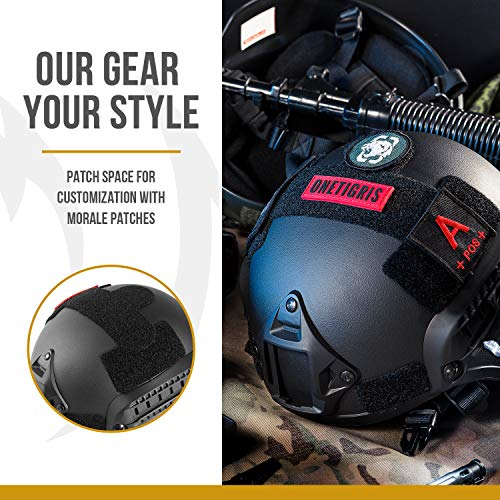OneTigris Airsoft Helmet 5 OneTigris MICH 2000 Style ACH Tactical Helmet with NVG Mount and Side Rail