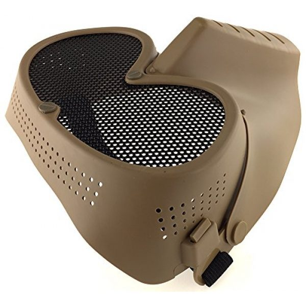 SportPro Airsoft Mask 7 SportPro CM Mesh Eye Protection Full Face Mask for Airsoft - Tan