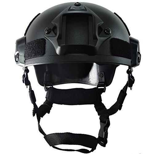 OneTigris Airsoft Helmet 2 OneTigris Airsoft Paintball MICH 2001 Action Version Tactical Helmet with NVG Mount and Side Rails